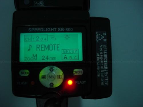 6) 出現以上畫面後,只要set CH及GROUP 與相機的一樣就可以了。