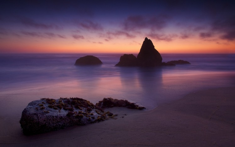 gray whale cove state beach sunset