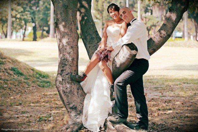 婚紗也可以搭配登山休閒鞋,效果加倍