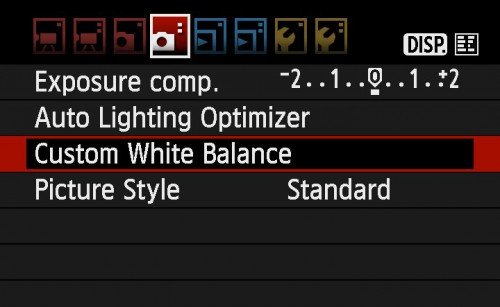 Canon 自訂白平衡