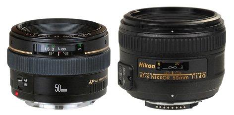Canon和Nikon的原廠大光圈 50mm f/1.4 鏡頭