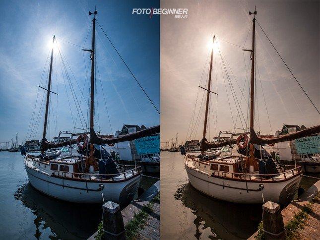 不同的白平衡能帶出不同的氣氛,左邊的是4000K,接近拍攝時的日光,右邊的是9000K,讓畫面暖起來。