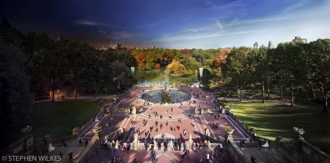 DAY_TO_NIGHT_BETHESDA_FOUNTAIN_NYC