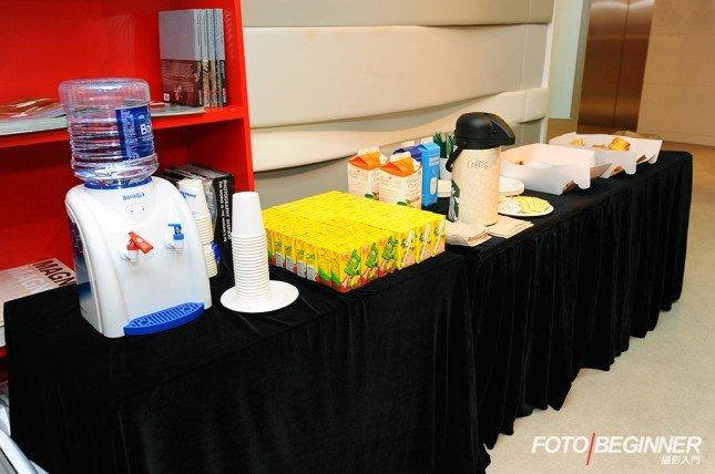 Canon也準備了茶點讓各參加者品嘗,十分貼心。
