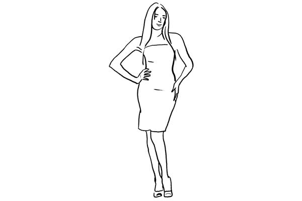 (17) 站著時也可以利用頭部、手部和腳部不同的位置來改變動作,眼神也可以望向不同的方向來產生更多變化。
