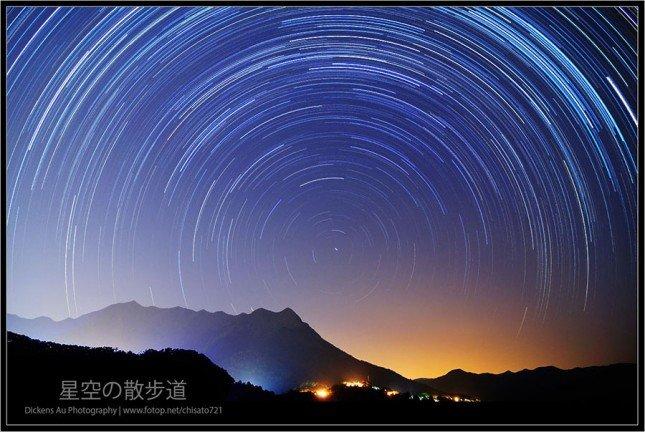 有了間時快門線,我們可以拍出星軌相片。