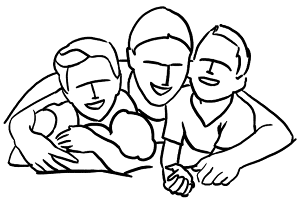 21 一家數口的全家幅又怎可以缺少呢?父親可以用雙臂抱著家人拍攝,溫馨又有意思!