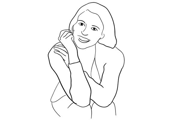(4) Model 可以坐著,但留意膝蓋必須靠在一起才好看。