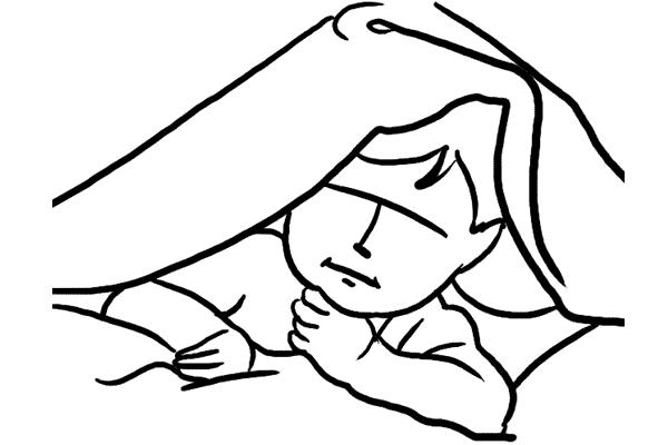 4 利用毛毯作道具,讓小孩躲在裏面吧!留意毛毯的顏色要配合,白色是一個安全的嘗試。