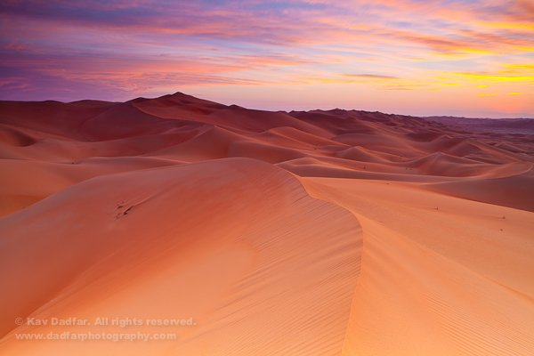 Liwa Oasis at sunset