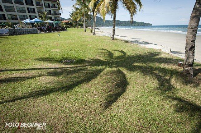 影子、石頭等也可以成為沙灘相片的一元素。