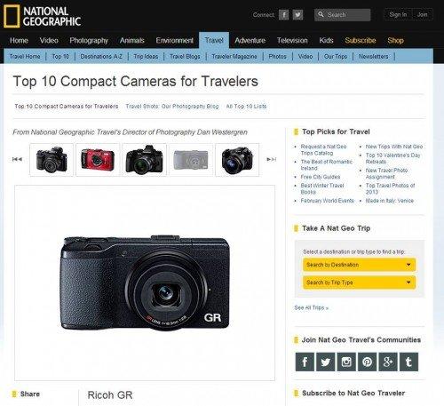 Ricoh GR 被國家地理頻道,列選為最適合旅行拍攝的十大相機之一耶!!! 看看我自己手上的GR,心裡有種自豪感,哈哈~
