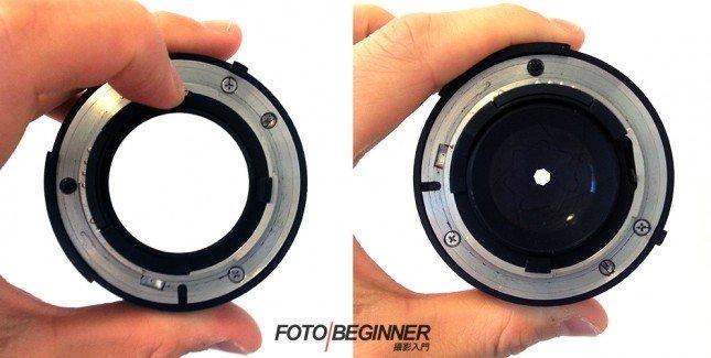 左邊的為大光圈; 右邊的為小光圈。