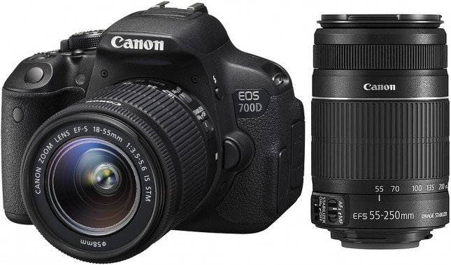 DSLR的套裝會跟上一或兩支標準鏡頭,讓你應付大部份的拍攝情境。