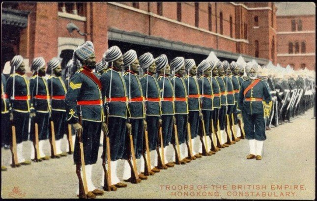 Hong Kong Police Troops (Constabulary) British Empire 1910s.