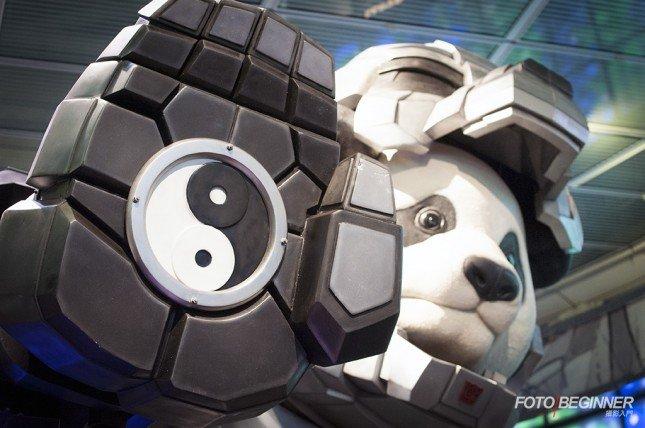 細心觀察會發現巨形熊貓保留了中國的傳統元素,設計十分精美!