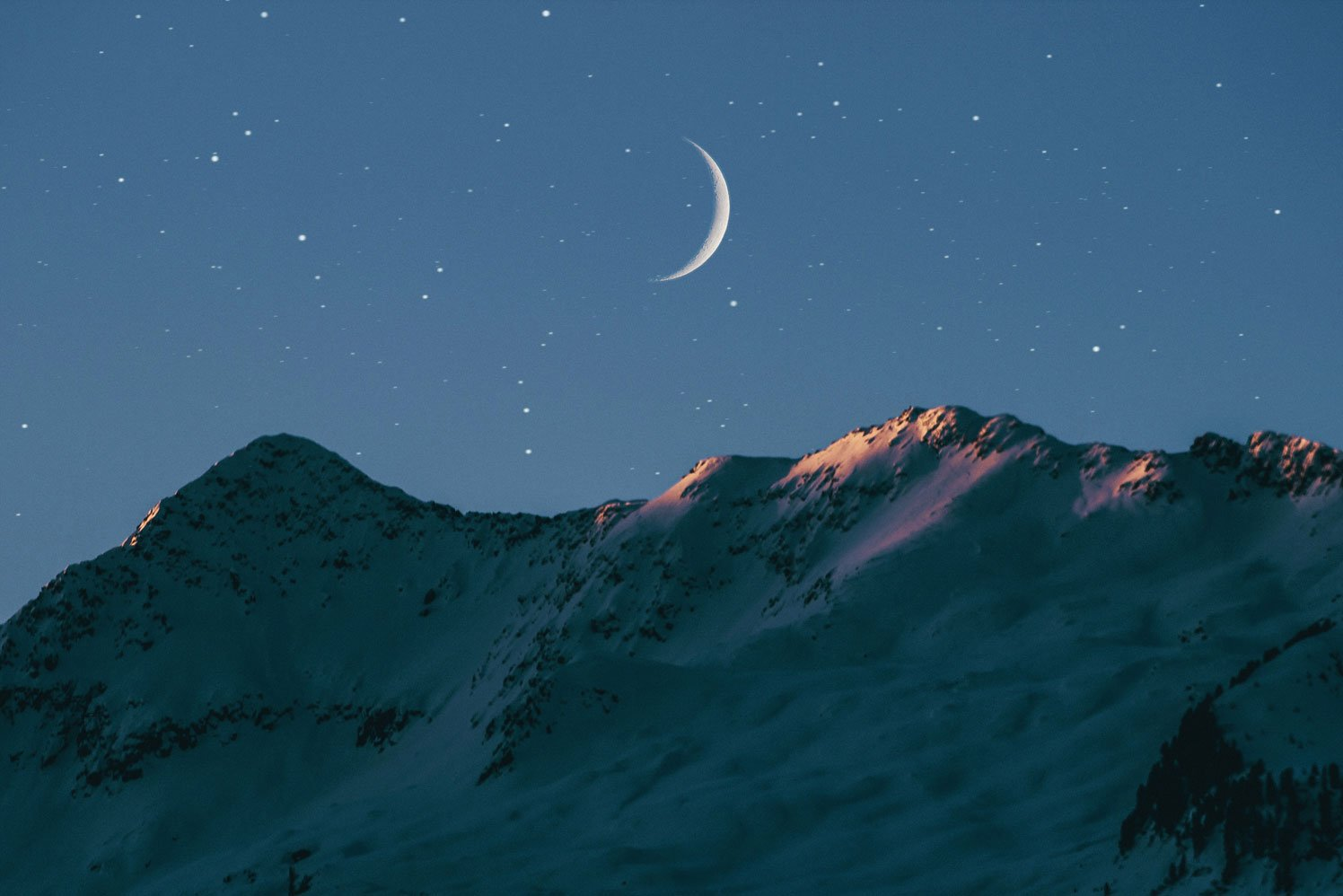 Moon with mountain