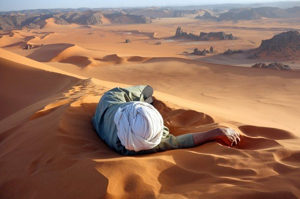 Merit Prize Winner: A Well Earned Rest in the Sahara Photo and caption by Evan Cole