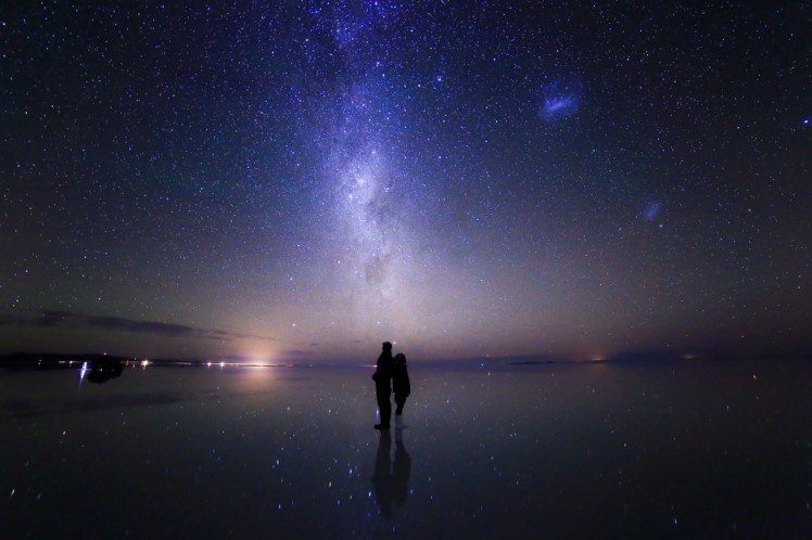 Into the stars ... @Soler de Uyuni