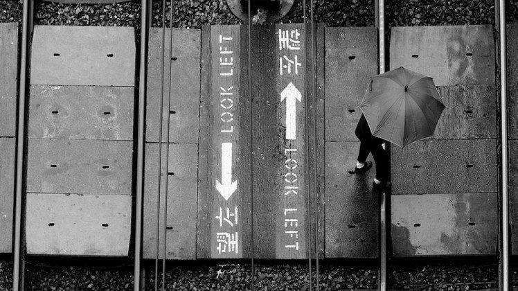 雨傘下,老婆婆的腳步 NEX-5N