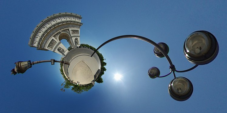 「Stereographic」對於拍攝建築物很好玩!快點試試啊! (Photo by {link:https://www.flickr.com/photos/gadl/4179012610}Alexandre Duret-Lutz{/link})