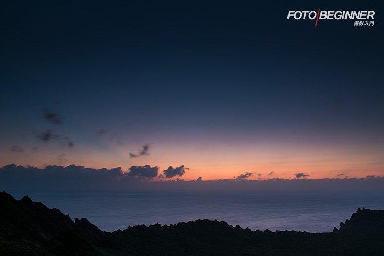 在太陽還未露面時可以拍攝漂亮的「Magic Hour」。