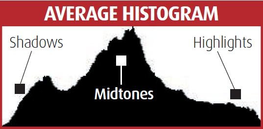 Histogram直方圖很有用,可以看到相片的曝光情況。(網上圖片)
