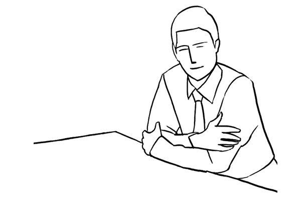 (14) 男生利用雙手支撐著上半身的pose,枱面也可以放一些相關的東西作裝飾。