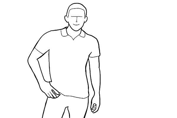 (3) 在拍攝人像時,其中一個很多人問的問題便是雙手放在那裏,其實答案很簡單,有四個部位可以留意的:(1) 放鬆放在兩旁;(2) 放在屁股後方;(3)放在口袋中;(4) 雙手交叉放在胸前;還有一點要留意的是,雙手應該時刻保持放鬆,肌肉不能收緊,除非你是在拍攝健身的主題啦!