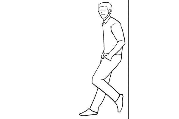 (7) 靠牆的pose