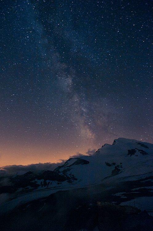 適當的慢快門可以讓相機吸收更多光線,拍下星空相片。