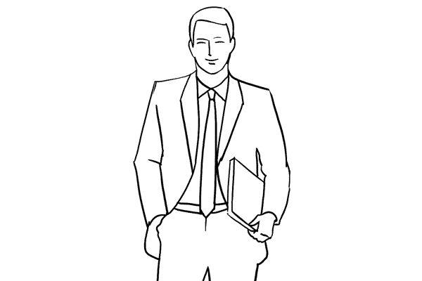 (9) 一個很簡單,適合專業人士拍攝之用,通常會拿著公事包或文件。
