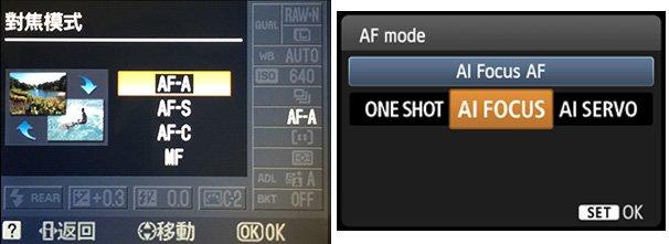 Nikon AF-A / Canon AI Focus