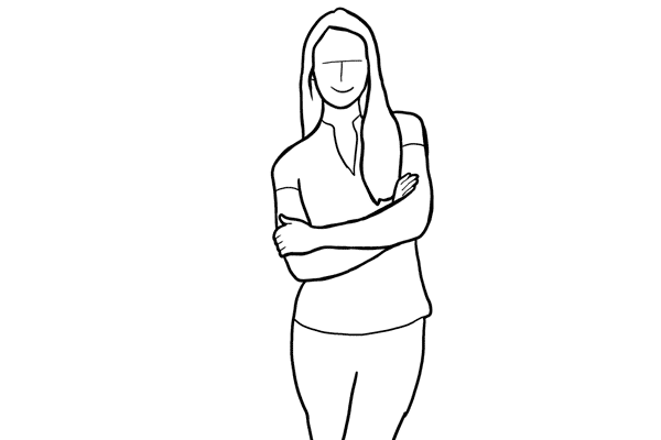 (10) 把雙手交叉放在胸前效果也不錯,而且很容易發揮。