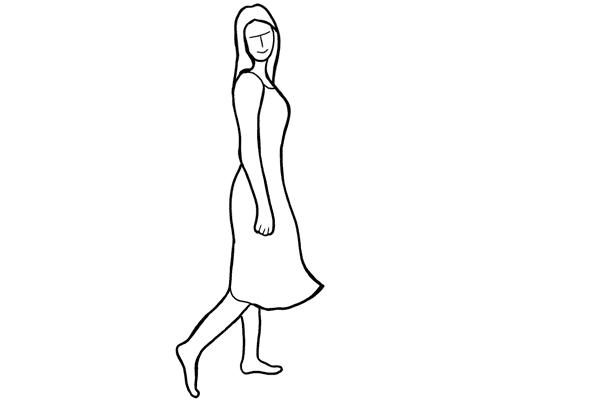 (13) 很適合在夏季時使用的 pose,不穿鞋並慢慢地向前走,你可以在後面拍攝。