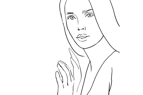 (3) 靠牆時擺的姿勢,記得按牆的手要垂直和放鬆。