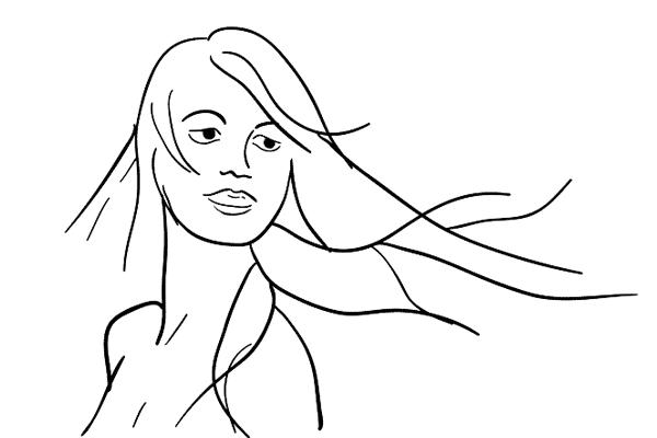 (4) 如果你的 model 有一頭長髮,可以請她把長髮飛起來拍出動態,試試不同的快門值來拍出最好的效果。