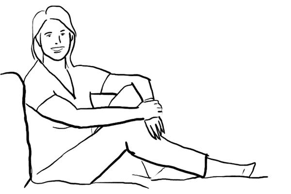 (6) 另一個很適合在室內,坐著時擺的pose。