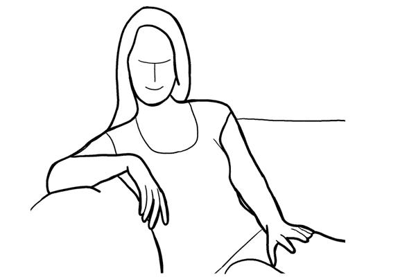 (7) 當 model 坐在梳化時可以請她這樣做動作,效果也不錯。