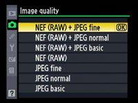 RAW + Fine JPG