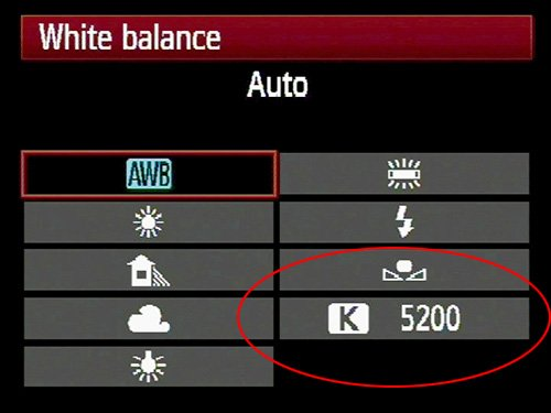 你可以自訂白平衡的 K 值。