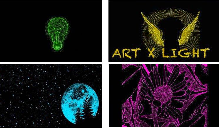 現場會投影出不同顏色的圖案,發揮想像力跟它們合照吧!