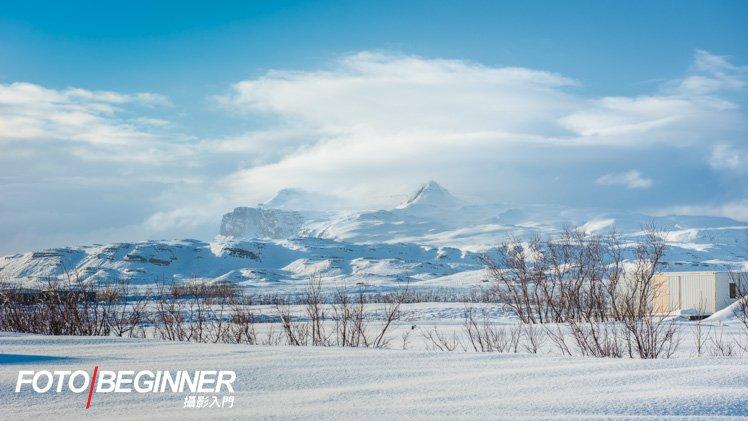雪山 + 藍天,很是漂亮!