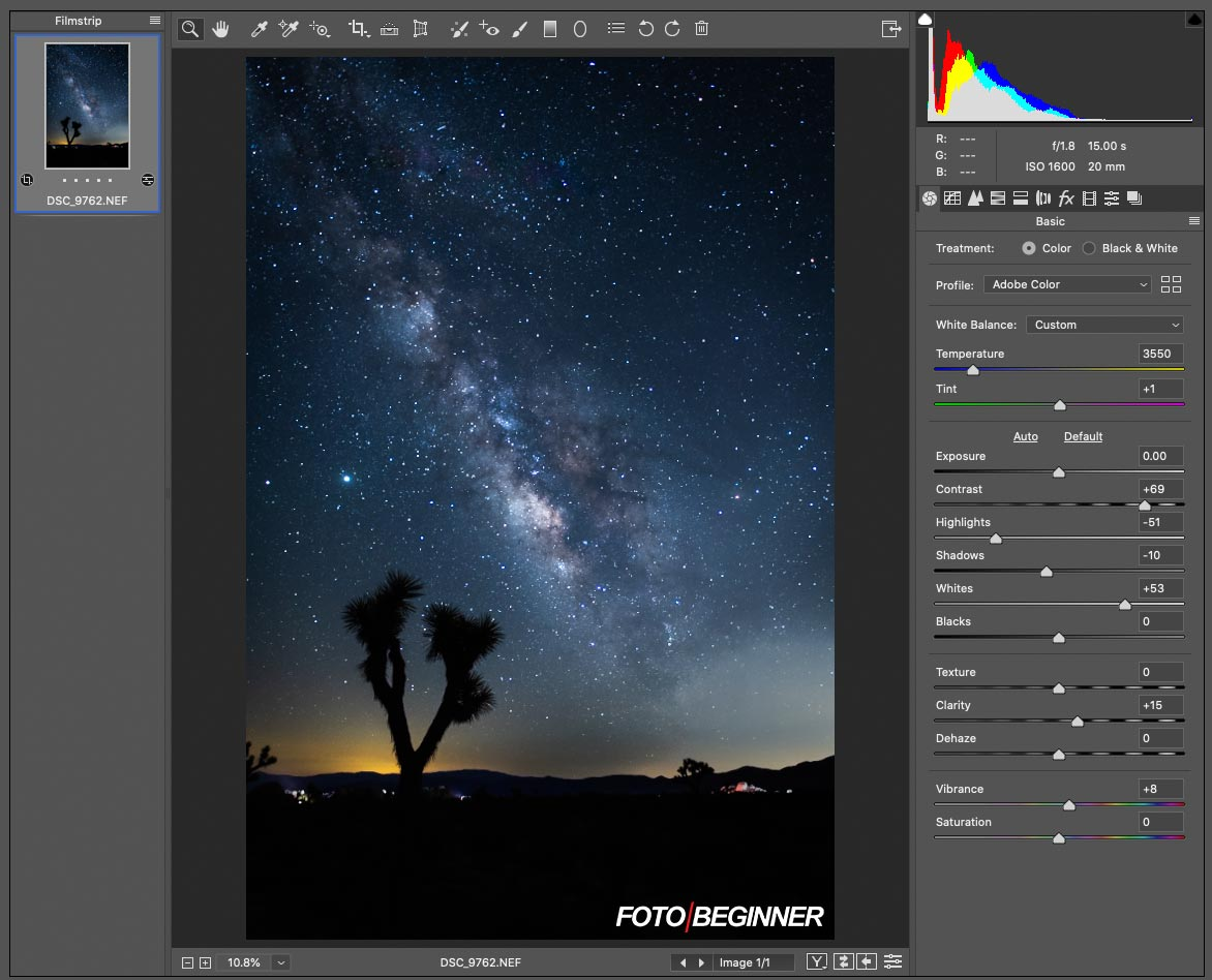 Photoshop Raw Editor 星空銀河